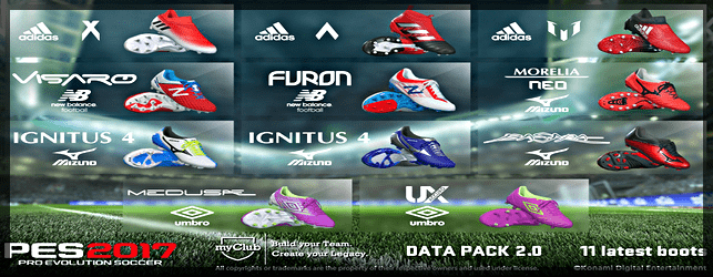 PES 2017 Data Pack 2 New Boots