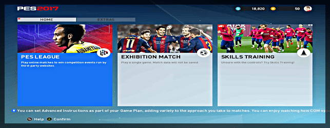 PES 2017 Trial Edition Modes