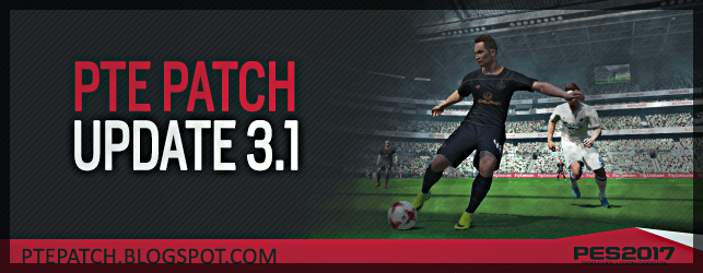 PTE Patch 3.1 Update PES 2017 download and install on PC