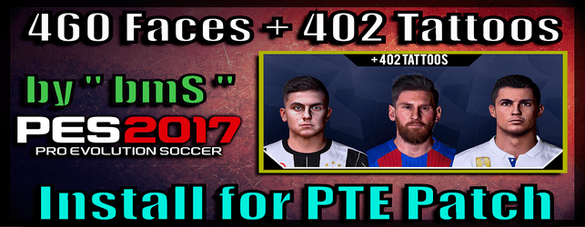 Pes 2017 ultra pack by bms download and install for pte patch