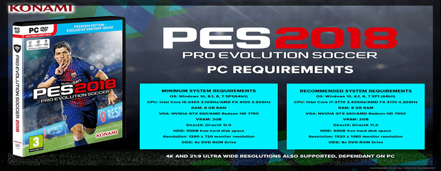 PES 2018 System Requirements for PC and how to test your PC specs to run PES 2018