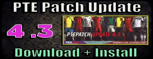 PTE Patch 4.3 PES 2018 download and install on PC Del Choc